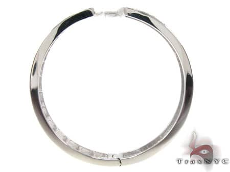White Gold Circus Hoops 2 18077 Stone