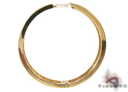 Yellow Gold Circus Hoops 2 Stone