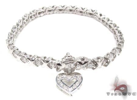 White Gold XO Bracelet Diamond