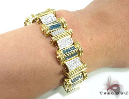 Tri Color Column Bracelet Diamond