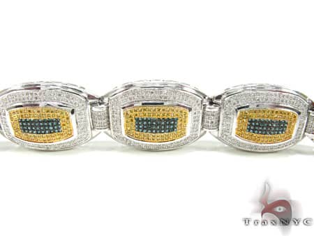 Tri Color Wolfman Bracelet Diamond