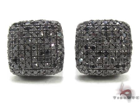 Black Diamond Pillow Earrings Stone