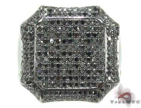 Black Diamond Octagon Ring Stone