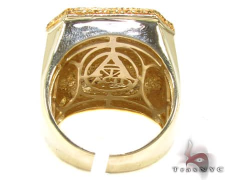 Canary Octagon Ring 2 Stone