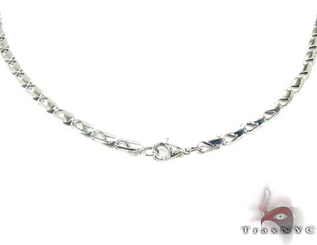 White SS Linked Chain 30in, 4mm, 14.5 Grams Stainless Steel