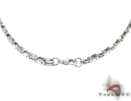 White SS Heavy Linked Chain 36in, 3mm, 39.9 Grams Stainless Steel