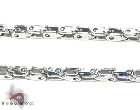 White SS Heavy Linked Chain 30in, 3mm, 33.4 Grams Stainless Steel