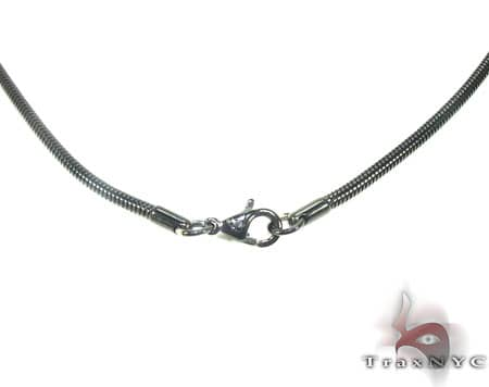 Black SS Snake Chain 40in, 2.5mm, 16.8 Grams Stainless Steel