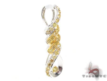 Canary Spiral Pendant Stone