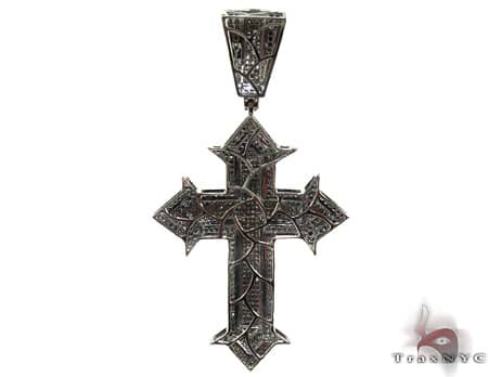 Black Diamond Spartan Cross Crucifix Diamond