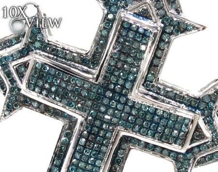 Blue Diamond Spartan Cross Diamond