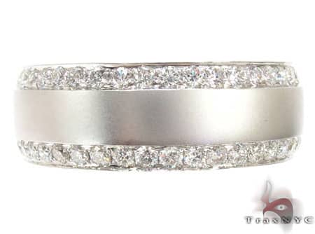 14k White Gold Diamond Ring Wedding Band Stone