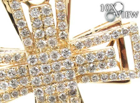 Yellow Gold Benny Cross 2 Diamond