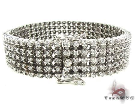 5 Row Bracelet 2 Diamond