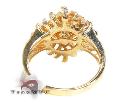 Yellow Gold Sunshine Ring Anniversary/Fashion