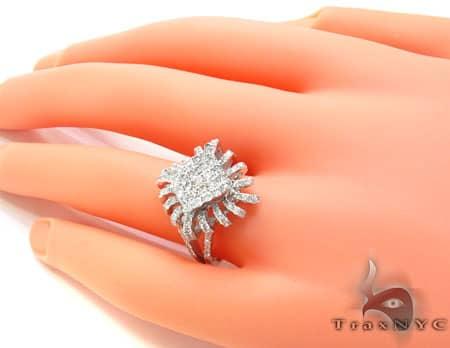 White Gold Sunshine Ring Anniversary/Fashion