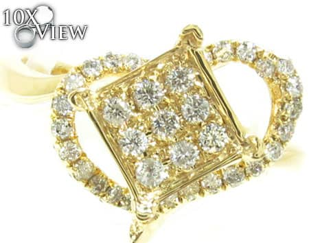 Yellow Gold Absolute Ring Anniversary/Fashion