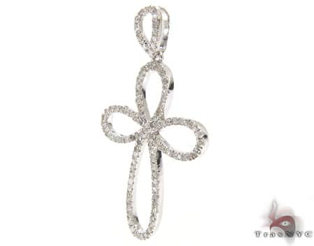 Sterling Silver & Diamond Delicate Cross Crucifix Style