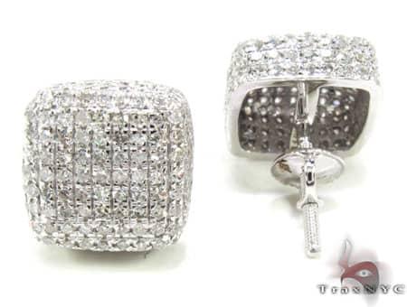 XL Ice Pillow Earrings Stone
