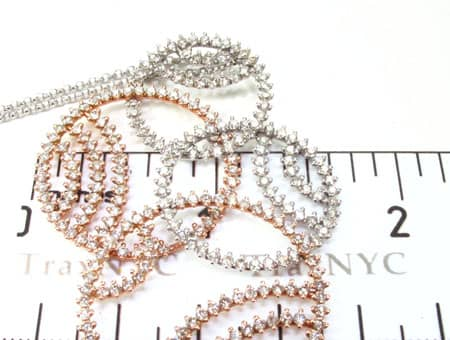 Two Tone Multi Circle Necklace Stone
