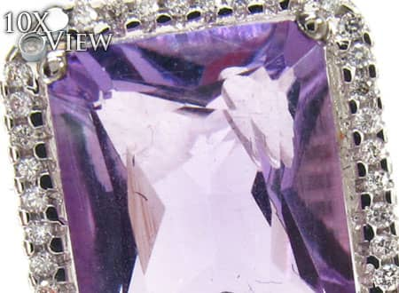Amethyst and Diamond Necklace 18900 Stone