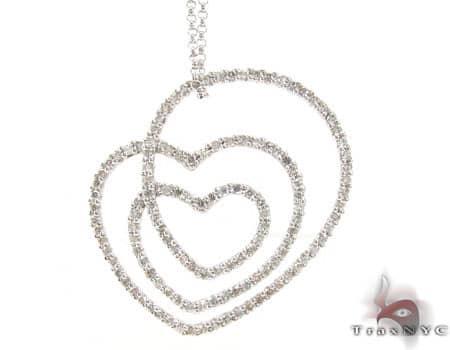 Swirl Heart Necklace Stone