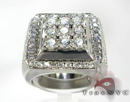 Freeze 14k White Gold Premiere Ring Stone