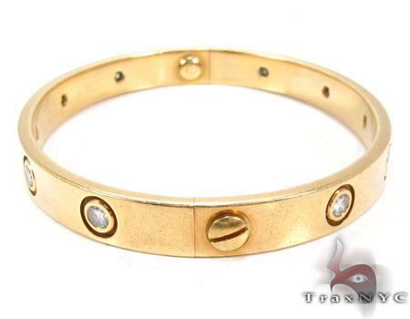 18K Gold Bezel Diamond Bracelet 32666 Diamond