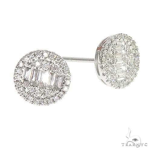 18K Gold Diamond Earrings 66733 Stone