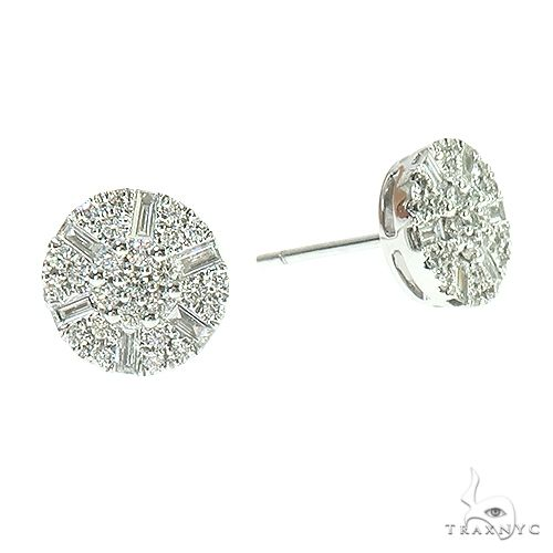 18K Gold Diamond Earrings 66807 Stone