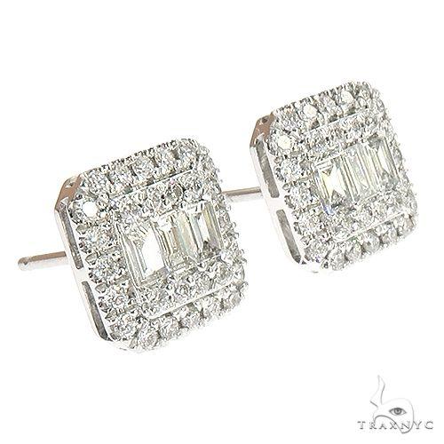 18K Gold Diamond Earrings 66806 Style