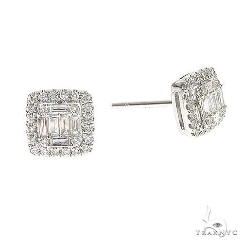 18K Gold Diamond Earrings 67012 Stone