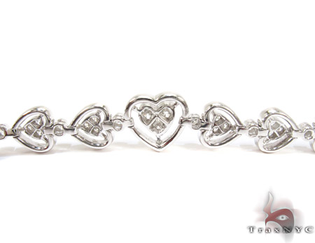 18K Gold Diamond Heart Bracelet 25429 Diamond