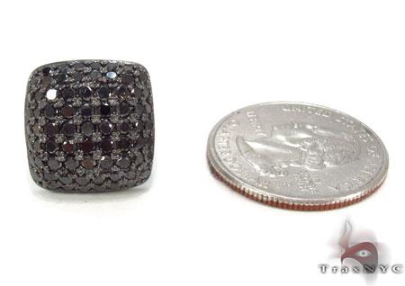 14K Gold Diamond Pillow Earrings 32897 Stone