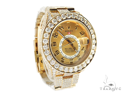 Rolex Sky-Dweller Yellow Gold Watch 326938 Diamond Rolex Watch Collection