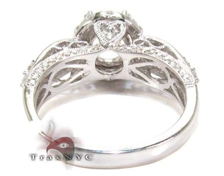 18K Gold Diamond Semi Mount Ring 25644 Engagement