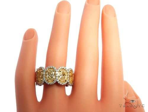 18K Gold Oval Diamond Queens Eternity Ring 64389 Engagement