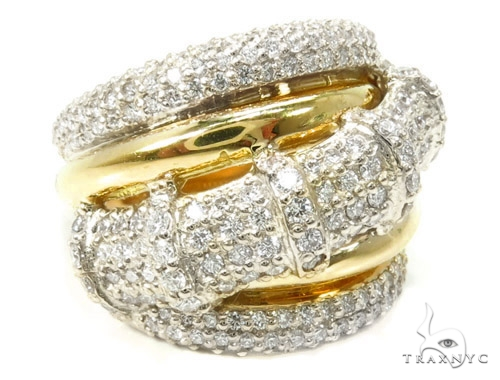 18K Gold Pave Diamond Ring 37255 Style