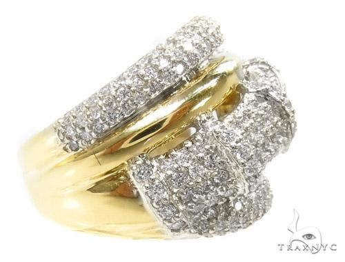 18K Gold Pave Diamond Ring 37255 Style