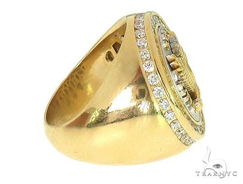 18K Two Tone Custom Made Eagle Diamond Ring 66205 Stone