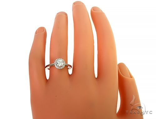 18K White Gold Engagement Diamond Ring 66233 Engagement
