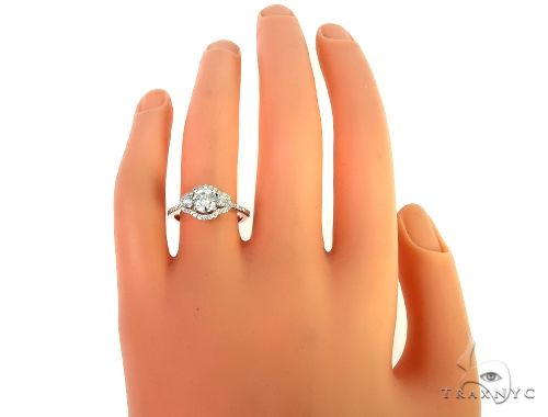 18K White Gold Engagement Diamond Ring 66234 Engagement