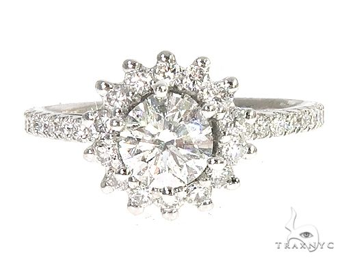 18K White Gold Engagement Diamond Ring 66247 Engagement