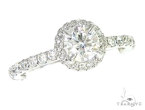 18K White Gold Engagement Diamond Ring 66248 Engagement