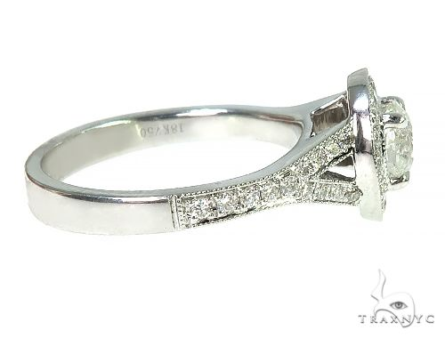 18K White Gold Engagement Diamond Ring 66249 Engagement