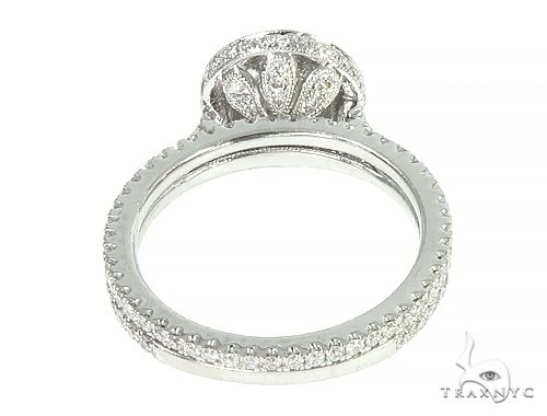 18K White Gold Engagement Diamond Ring Set 66235 Engagement