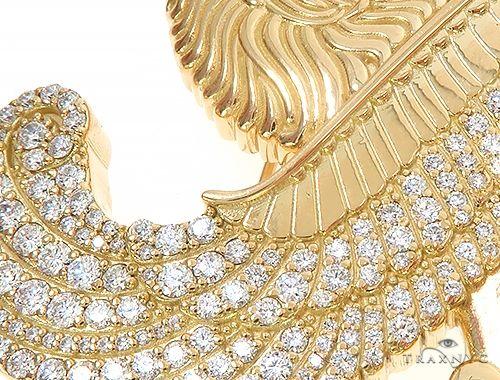18K Yellow Gold Custom Brooch 65129 Men Specials