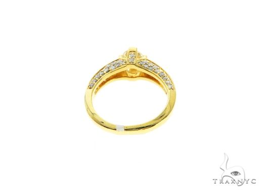 18K Yellow Gold Prong Channel Diamond Ring 63719 Anniversary/Fashion