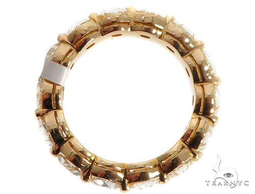 18K Yellow Gold Prong Diamond Eternity Ring 64388 Style