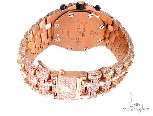 18Kt Rose Gold Full Diamond Audemars Piguet Royal Oak Offshore Watch Audemars Piguet Watches